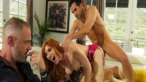 Lauren Phillips and busty hotwife Maya Bijou femdom sex tape