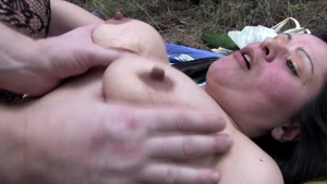 Hardcore sex accompanied by busty babe