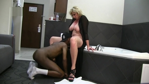 Muscle blonde cuckold on vacation