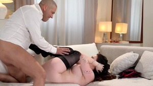Hardcore sex escorted by busty