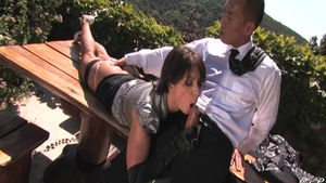 Fetish rough sex alongside young babe Lea Lexis outdoors