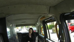 Tattooed large boobs goth rough creampied in a car