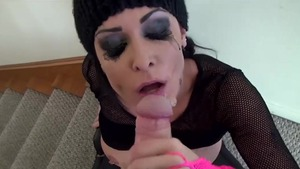 Cumshot with sexy girl