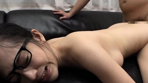 Ramming hard in the company of super cute asian brunette