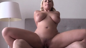 Very nice blonde really enjoys rough nailing