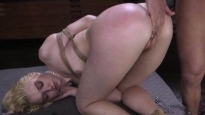 Bondage accompanied by girl