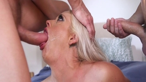 Gangbang together with busty housewife Holly Heart