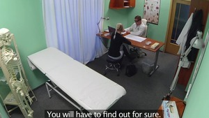 Blonde babe foreplay in the hospital