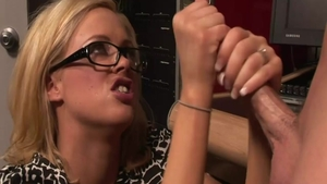 Katie Kox together with Katie Morgan in fishnets pussy eating