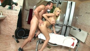 Rough sex in the company of blonde