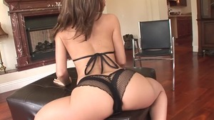 Hairy and fabulous Kristina Rose anal interracial