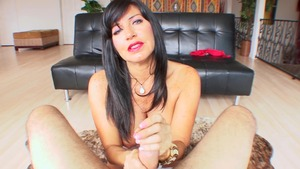 POV latina blowjob cum on a holiday