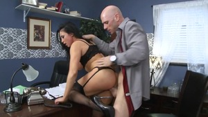 Nailed rough in the company of busty secretary Audrey Bitoni