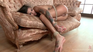 Domination roped together with Bonnie Rotten