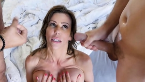 Large tits pornstar finds pleasure in rough fucking