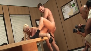 Brooke Haven doggy fucking after interview in HD
