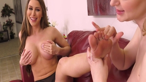 Young babe Chloe Foster foot fetish