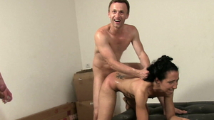 Small tits arab whore Rick Angel enjoys rough sex HD