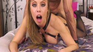 Nailing with wild blonde Britney Amber