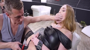 Sloppy fucking blonde Liza Del Sierra