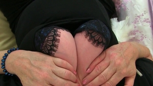 Large tits stepmom in sexy lingerie finds dick to fuck