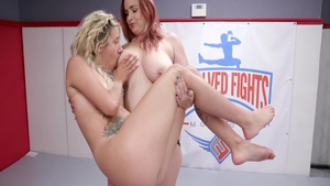 Busty lesbians Sophia Grace gets a buzz out of nailed rough
