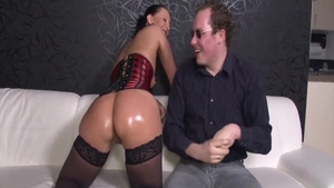 Erotic Kristina Rose cumshot fucked in the ass
