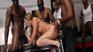 Orgy among amazing blonde Moka Mora