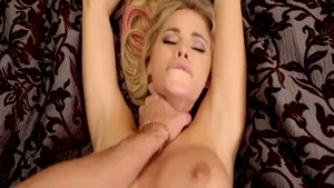 Large boobs babe Jessa Rhodes rides a hard dick in HD