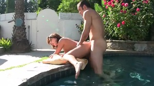 Brunette Ashley Coda rimming outside HD