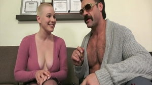 Large tits and horny Riley Nixon cock sucking