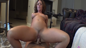 Hard fucking in company with big tits brunette Rahyndee James