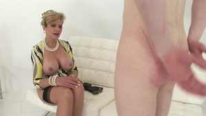 Young mature Lady Sonia enjoys spanking HD