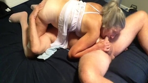 Amateur has a thing for creampie HD