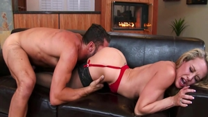 Busty american babe Brandi Love has a passion for doggy