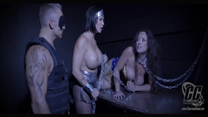 Chained in the company of busty stepmom Summer Day