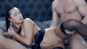 Ana Rose amongst Anna Rose in her lingerie threesome