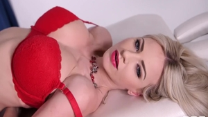Bald blonde Nathaly Cherie has a passion for raw fucking