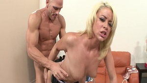 Johnny Sins in a suit rough dick sucking