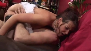 Big boobs brunette Tanya Cox hardcore dick sucking