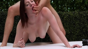 Super sexy brunette wishes for hard nailining