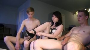 Small tits european goth raw cock sucking in HD