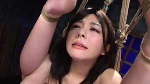 Japanese brunette has a thing for extreme BDSM