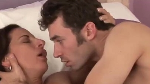 Raw fucking alongside large tits cougar James Deen