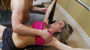 Drool at the gym starring muscle queen Brandi Love