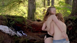 Erotic hard ramming in company with young lesbians