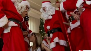 Cumshot on the Christmas big butt russian Gina Gerson