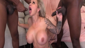 Threesome sex tape next to busty gonzo Ryan Conner