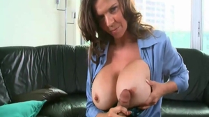 Perfect & classy June Summers cum in mouth