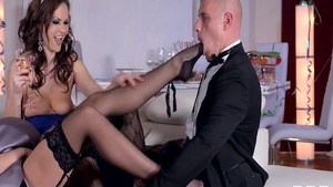 Rough real fucking along with lustful mature Tina Kay